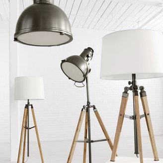 Ethan Allen Photographer's Bronze Floor Lamp