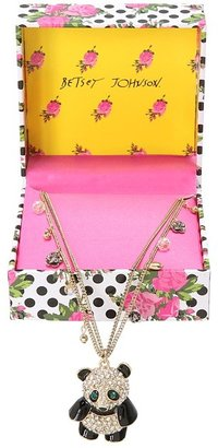 Betsey Johnson Gifting - Panda Pendant Necklace (Antique Gold) - Jewelry