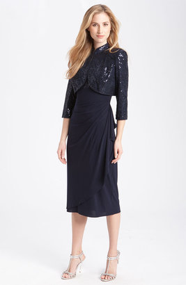 Alex Evenings Gathered Dress & Jacket