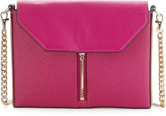Pour La Victoire Provence Zip-Front Crossbody Bag, Fuchsia