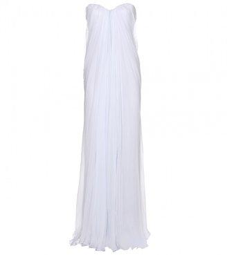 Alexander McQueen Silk-chiffon floor-length gown