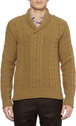 Boglioli Cable Knit Flecked Wool Sweater