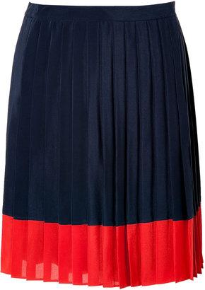 Steffen Schraut Navy Blue Pleated Biarritz Skirt