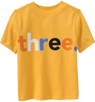 """Old Navy """"Three"""" Graphic Tees for Baby"""