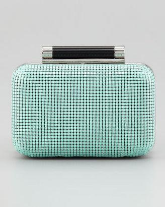 Diane von Furstenberg Tonda Small Chain Mail Clutch Bag, Turquoise