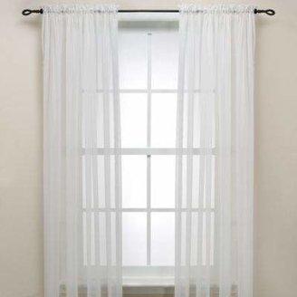 S. LICHTENBERG & COMPANY, INC. Eggshell Rod Pocket Sheer 63-Inch Window Curtain Panel