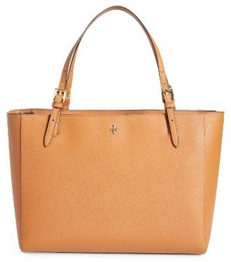 Tory Burch 'York' Buckle Tote - Brown $295 thestylecure.com