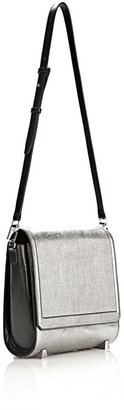 Alexander Wang Chastity Messenger In Silver With Rhodium