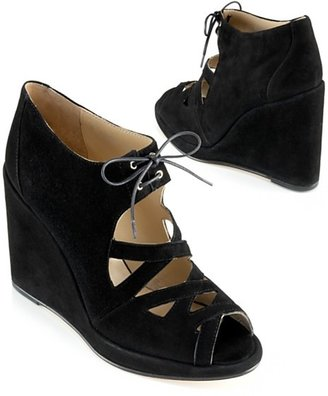 Opening Ceremony Lace-Up Wedge, Black