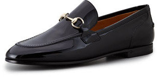 Gucci New Power Patent Leather Moccasin