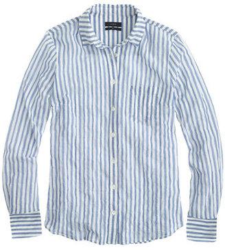 J.Crew Tall crinkle gauze boy shirt