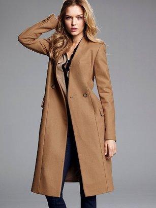 Victoria's Secret Collarless Wool Coat