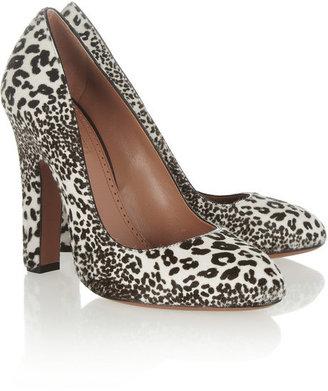 Alaia Animal-print calf hair pumps
