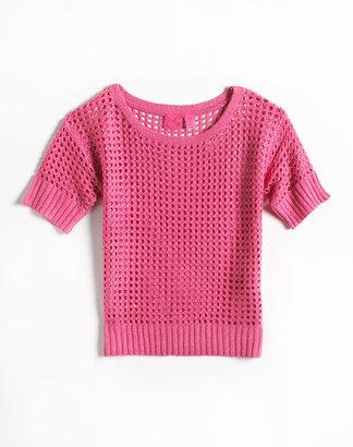 Takeout Girl Girls 2-6X Metallic Pullover Sweater