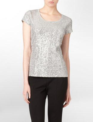 Calvin Klein Allover Sequin T-Shirt