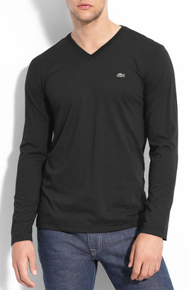 Lacoste Pima Cotton V-Neck T-Shirt