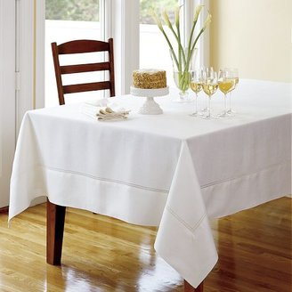 Williams-Sonoma Hemstitched Linen Tablecloths, White