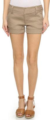alice + olivia Cady Cuff Shorts $154 thestylecure.com