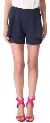 Yigal Azrouel Poly Tech Crepe Shorts