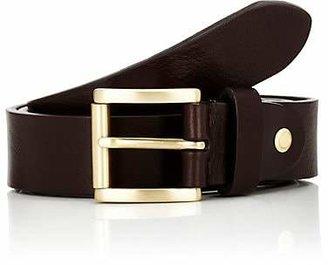Barneys New York Men's Textured Leather Belt - Brown