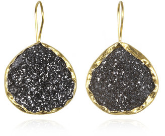 Charm & Chain Coralia Leets Black Druzy Teardrop Earrings