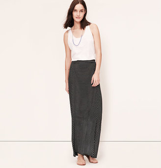 LOFT Paneled Stripe Maxi Skirt