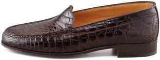 Gravati Crocodile Loafer, Dark Brown