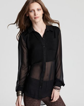 Free People Top - Best of Both Worlds Button Down