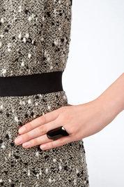 Lynn Ban PVD Armor Ring in Black