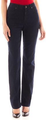 LIZ CLAIBORNE Liz Claiborne Essential Original-Fit Straight-Leg Jeans $17.99 thestylecure.com