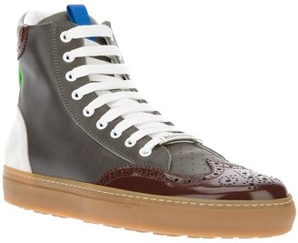 DSquared DSQUARED2 high top brogue trainer