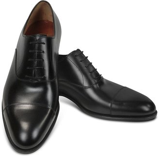 Fratelli Rossetti Black Calf Leather Cap Toe Oxford Shoes