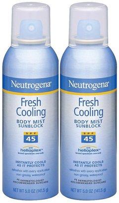 Neutrogena Fresh Cooling Body Mist SPF45-5 oz, 2 pack