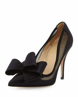 Kate Spade New York Lovely Satin Bow Pump, Black $350 thestylecure.com