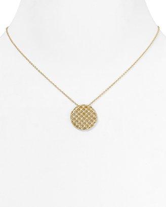 "Nadri Lattice Circle Pendant Necklace, 15"""