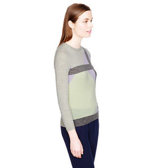 J.Crew Collection featherweight cashmere sweater in windowpane intarsia