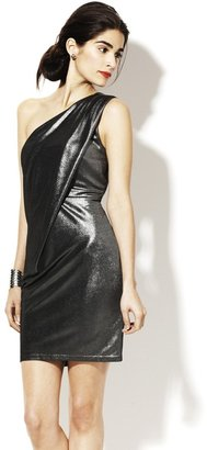 Vince Camuto Pleated One Shoulder Dress