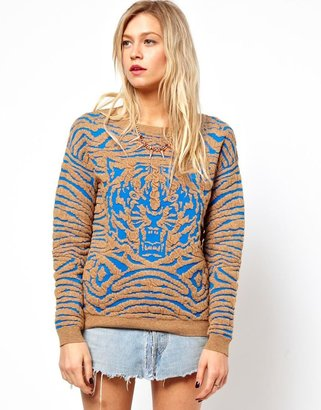 Asos Tiger Jumper In Structured Knit