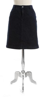 Jones New York Signature Petite Madison Denim Skirt