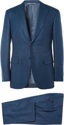 Canali Blue Check Wool Suit