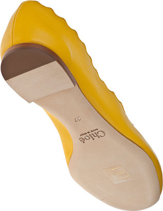 Chloé CH20390 Ballet Flat Yellow Leather