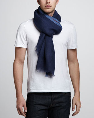 Loro Piana West End Linen-Cotton Scarf