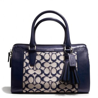 Coach Legacy Haley Satchel In Needlepoint Signature Fabric