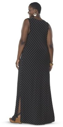 Women's Plus Size Sleeveless V Neck Maxi Dress-Pure Energy