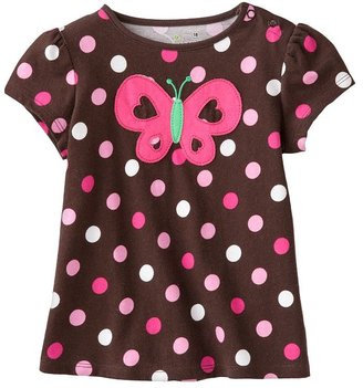 Jumping beans® dot & butterfly babydoll top - baby