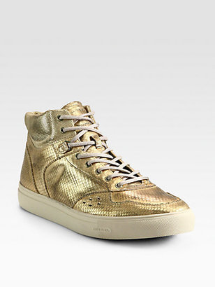 Diesel Moonlight Invasion Metallic Leather Sneakers