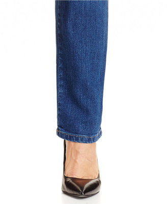 Style&Co. Style & Co. Straight-Leg Tummy-Control Jeans, Aged Indigo Wash