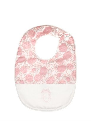 Christian Dior Floral Print Cotton Poplin Bib