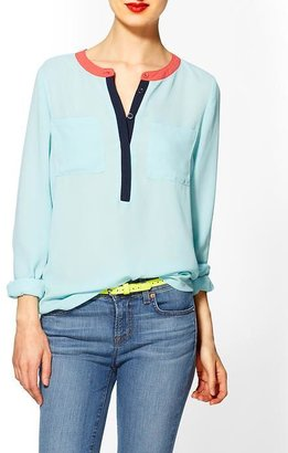 Tinley Road Colorblock Henley Blouse