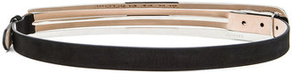 Maison Martin Margiela Leather Belt in Black